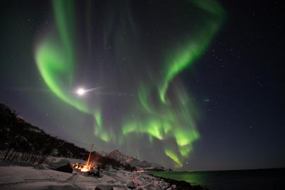 Northern Lights over the fjord